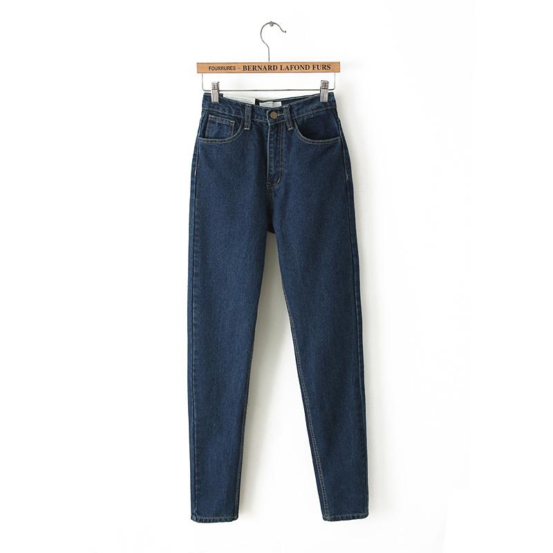 Купить не дорого женские классические джинсы с высокой талией №1