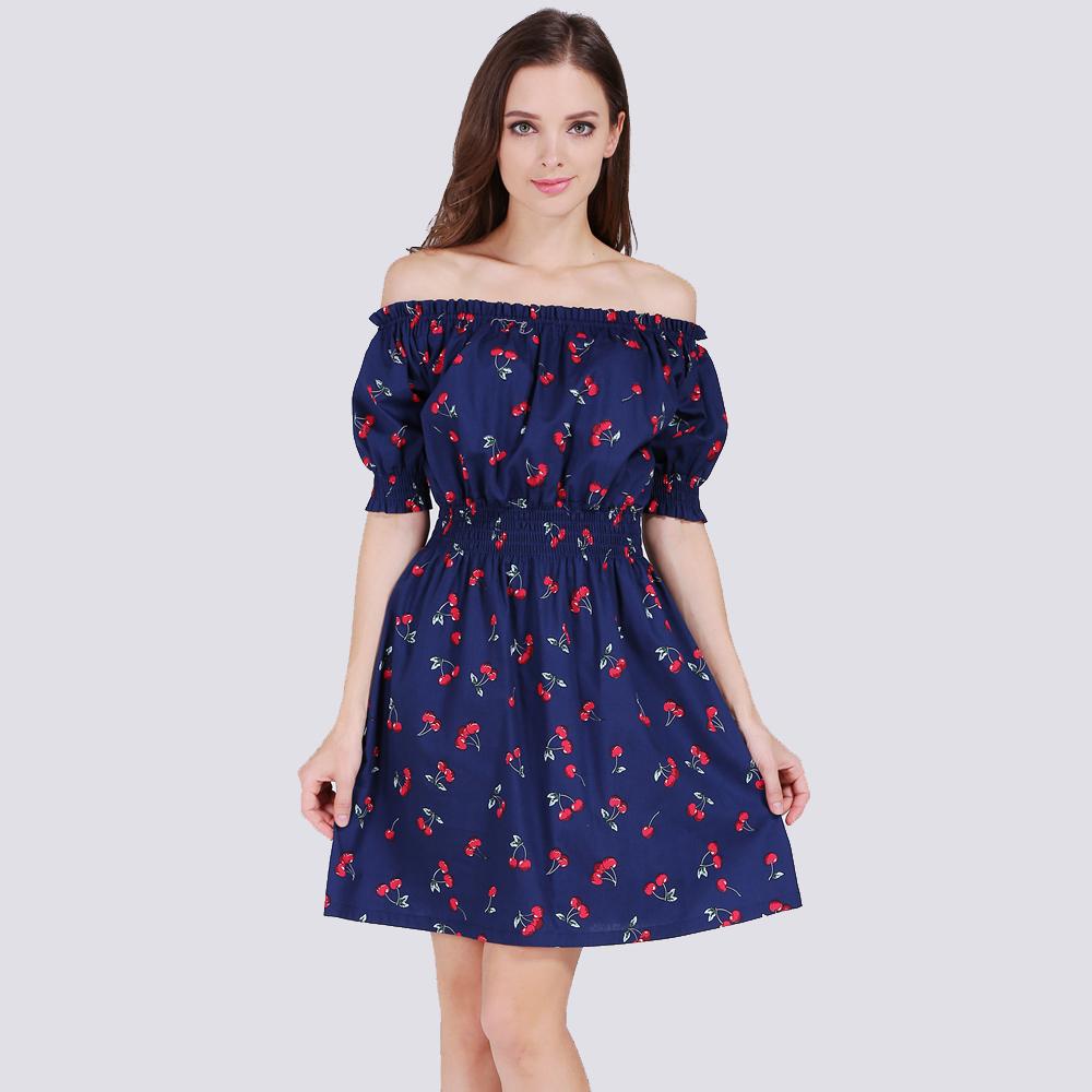 Повседневное шифоновое сексуальное платье тёмно-синее №2