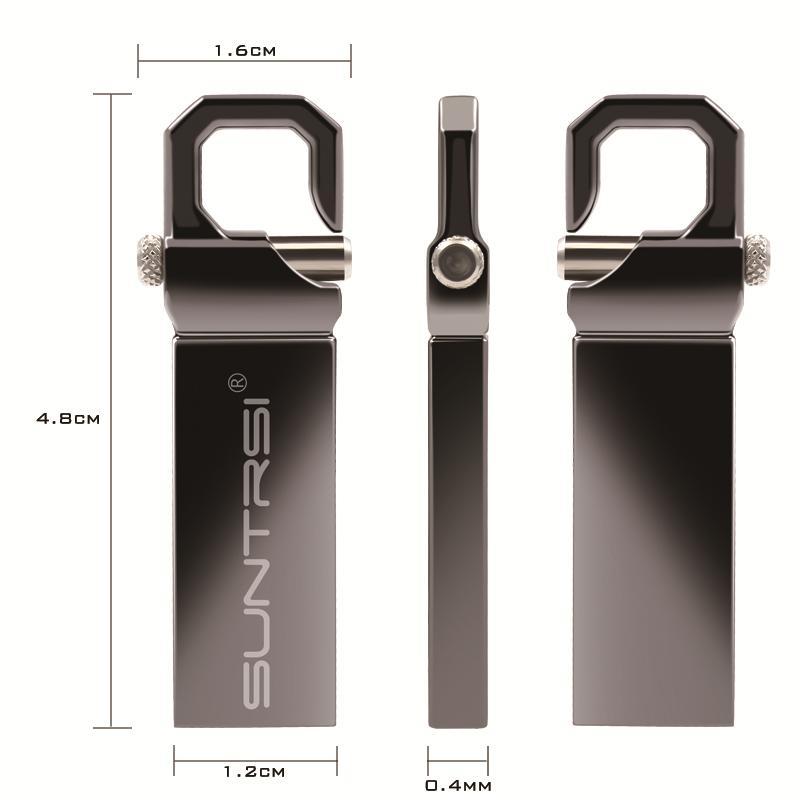 USB флешка Suntrsi в металлическом корпусе объёмом памяти 4гб 8гб 16гб 32гб 64гб №1
