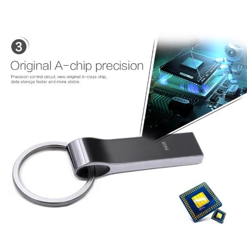 Водонепроницаемая металлическая USB флешка TECHKEY объёмом памяти 4 Гб, 8 Гб, 16 Гб, 32 Гб, 64Гб №3