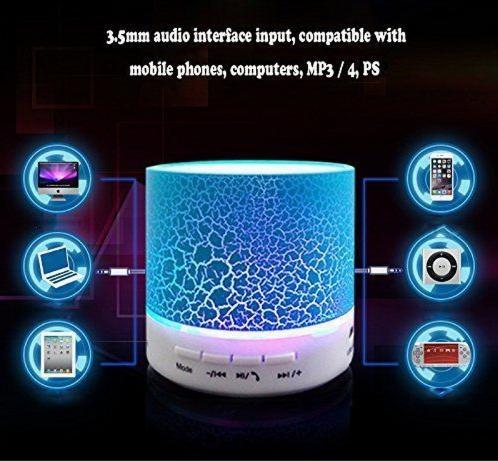 Портативная мини светодиодная Bluetooth колонка №2